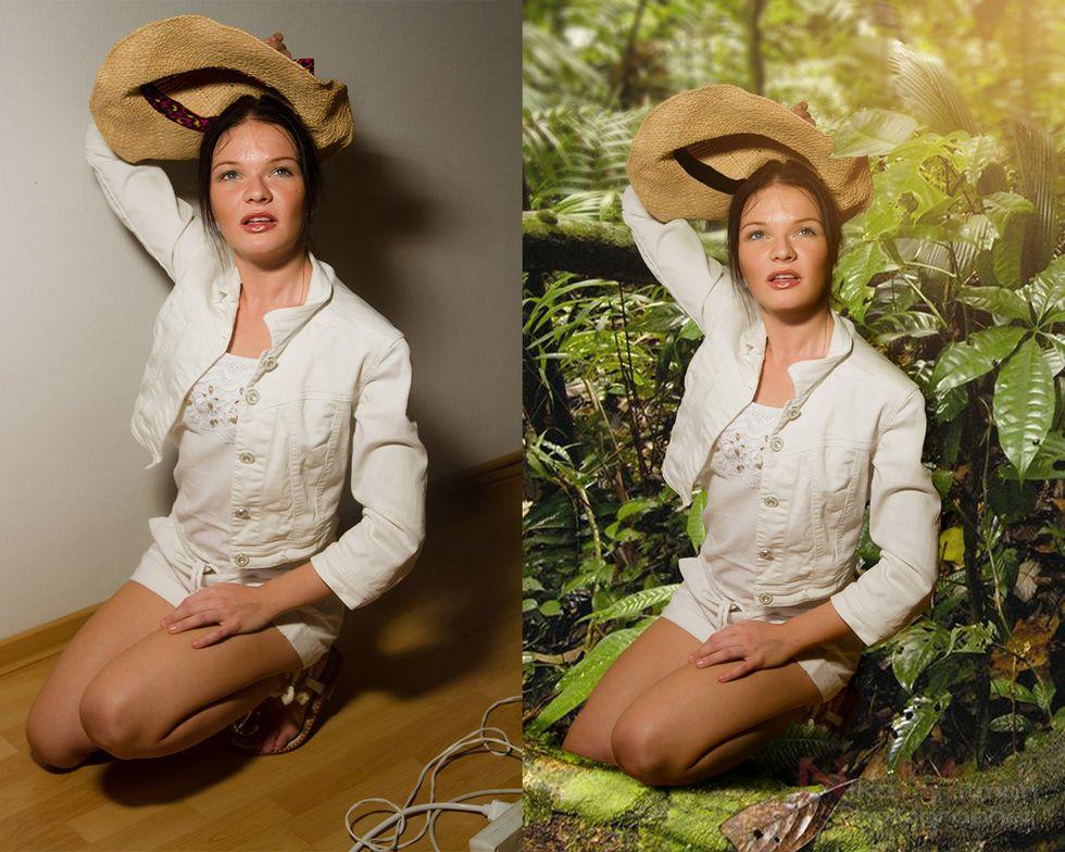 женщина сделать фотомонтаж самому несколько раз