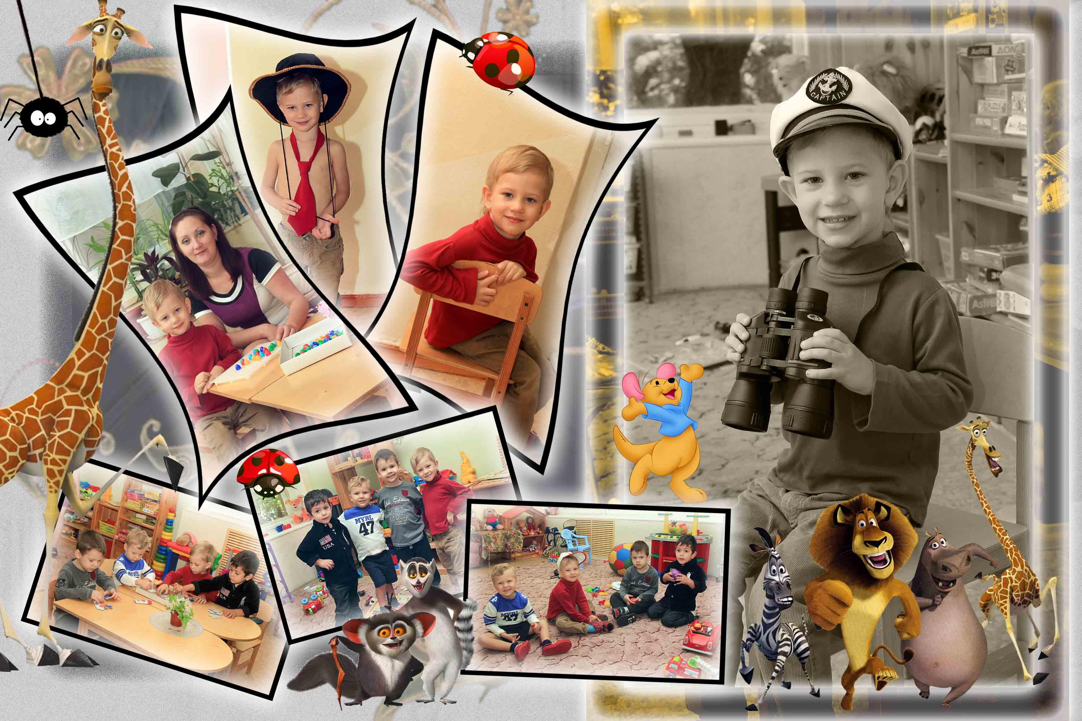 Создать коллаж открытку онлайн